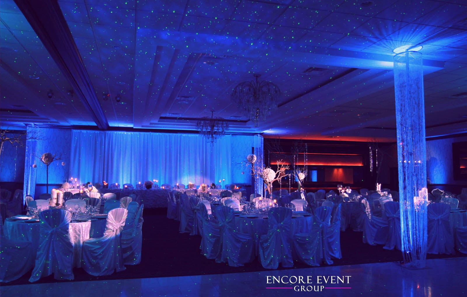 Michigan uplighting services encore event group maybe youd like a starry night or hollywood feel we can project star patterns on the ceiling walls or even a dance floor another example is that we can aloadofball Choice Image
