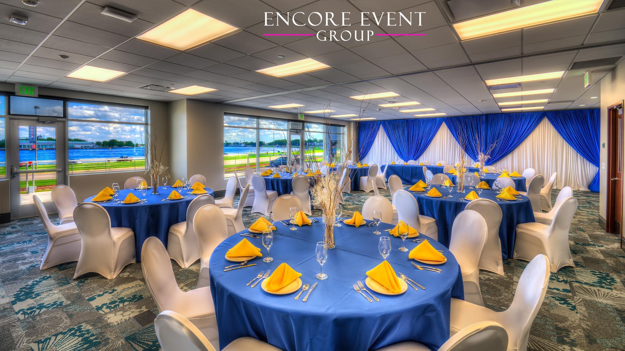 Port Huron Mi Wedding Drapery Blue Encore Event Group