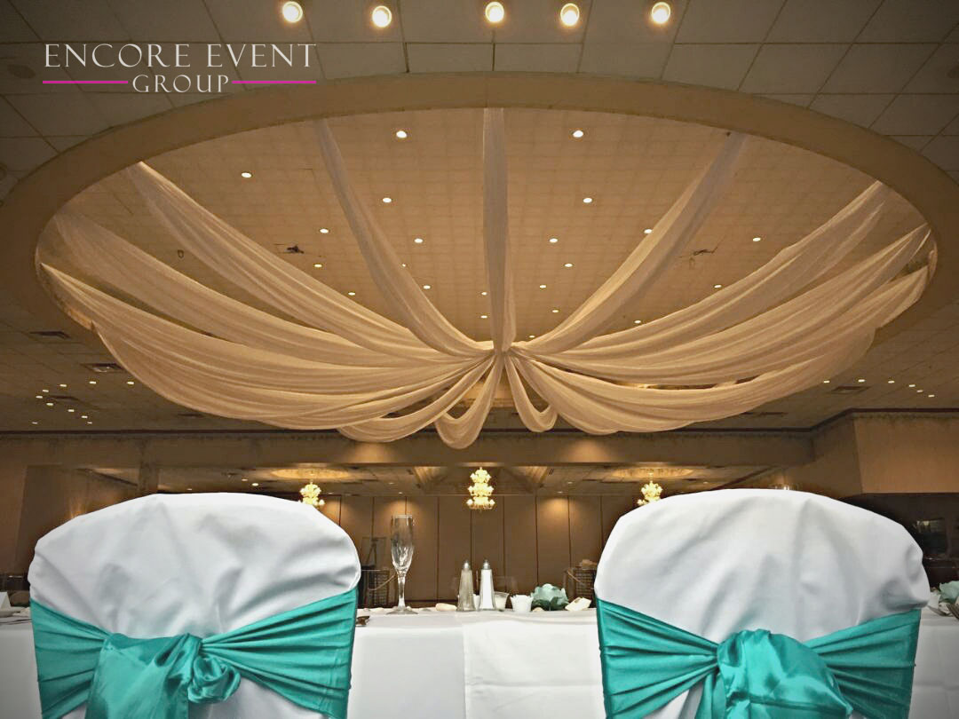 Andiamo\'s Warren Wedding Ceiling Draping | Encore Event Group