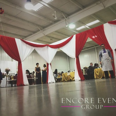Barry Expo Center Hastings MI Red Draping