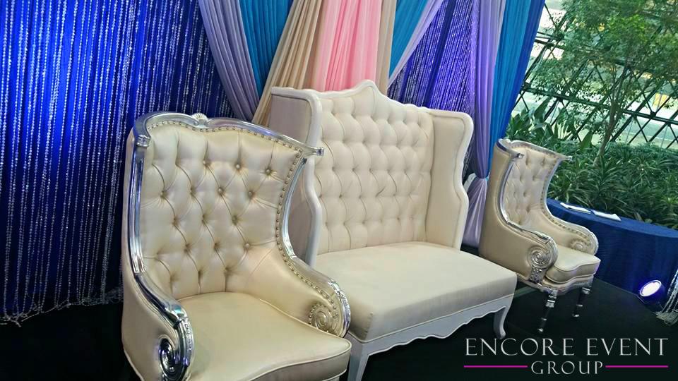 Michigan White Lounge Furniture Rentals