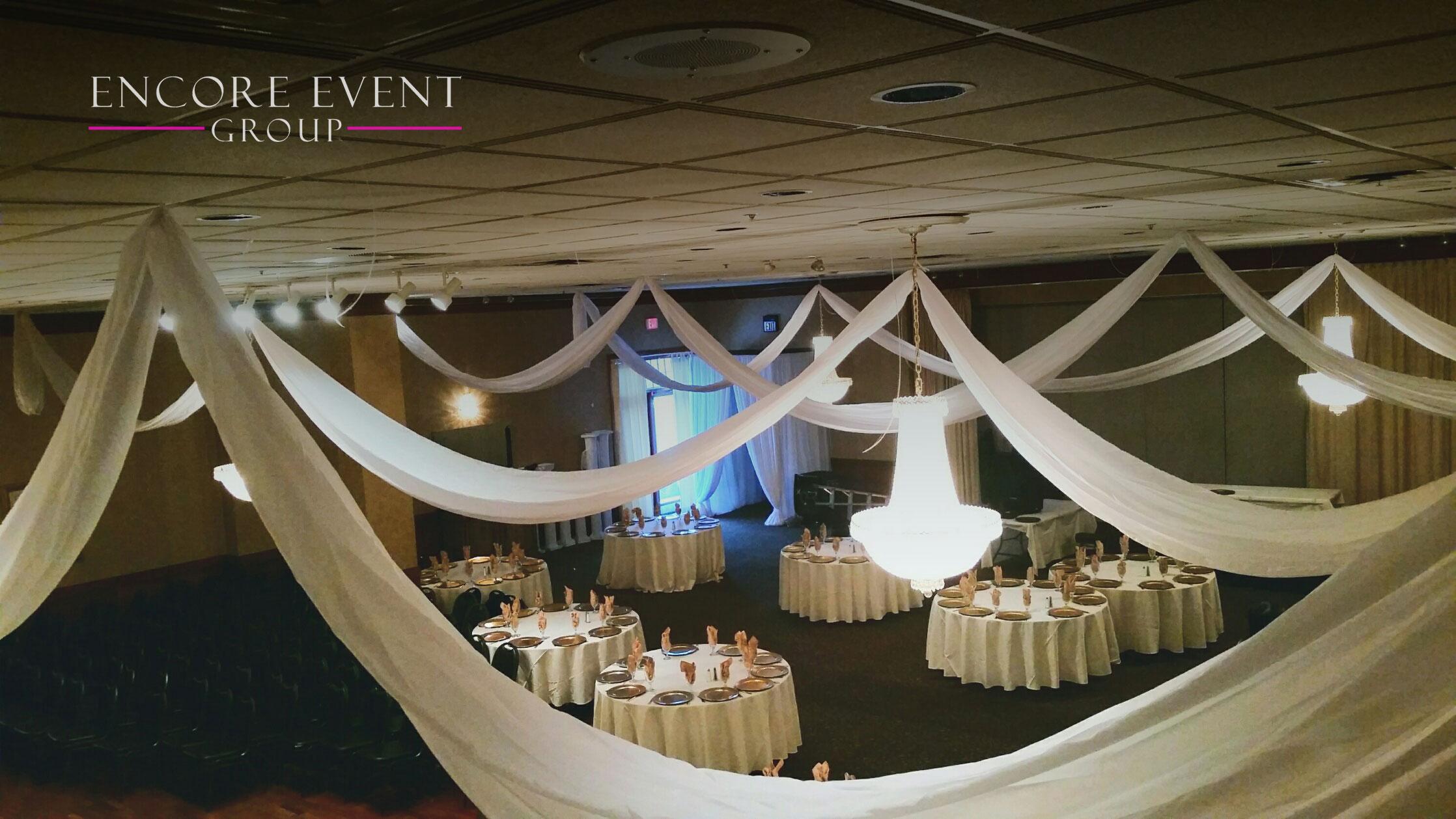 Pi Banquet Southfield Michigan Ceiling Drapery Encore