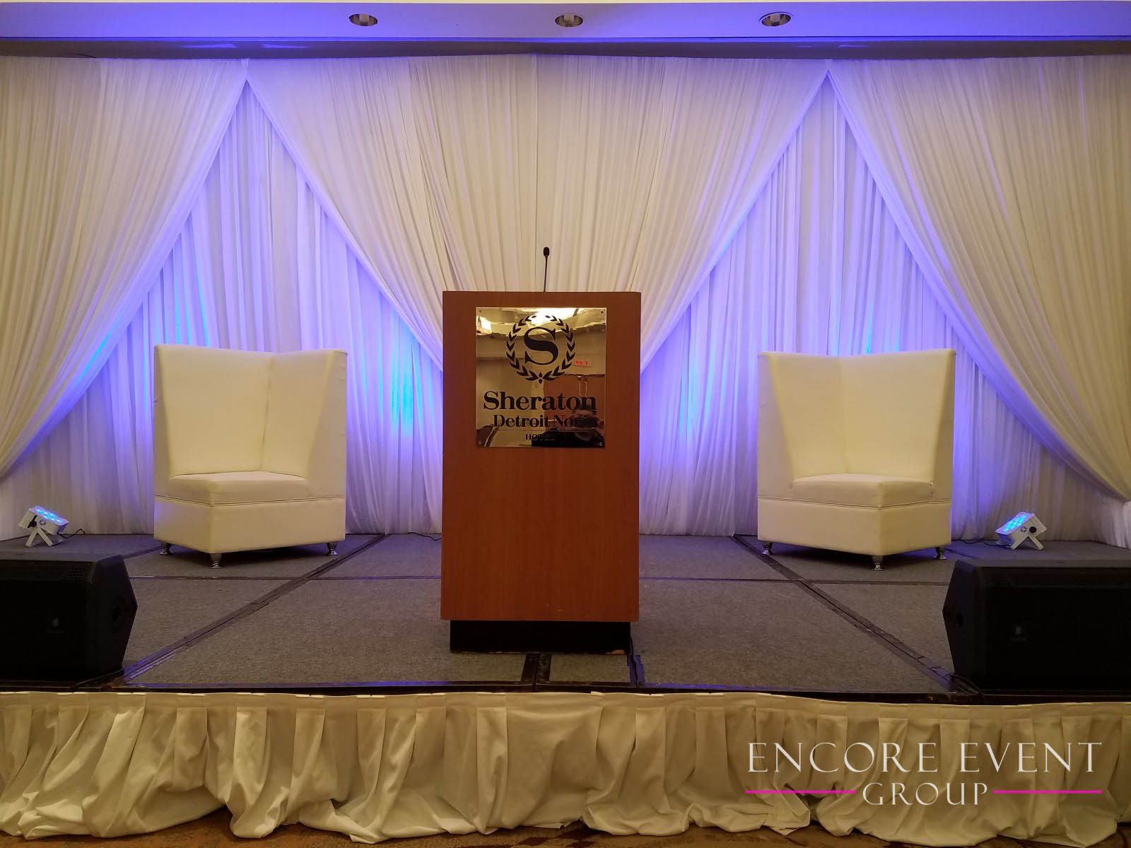 Novi Michigan Fundraiser Stage Draping Encore Event Group