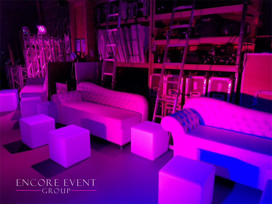 Michigan White Lounge Furniture Rentals | Couches | Thrones