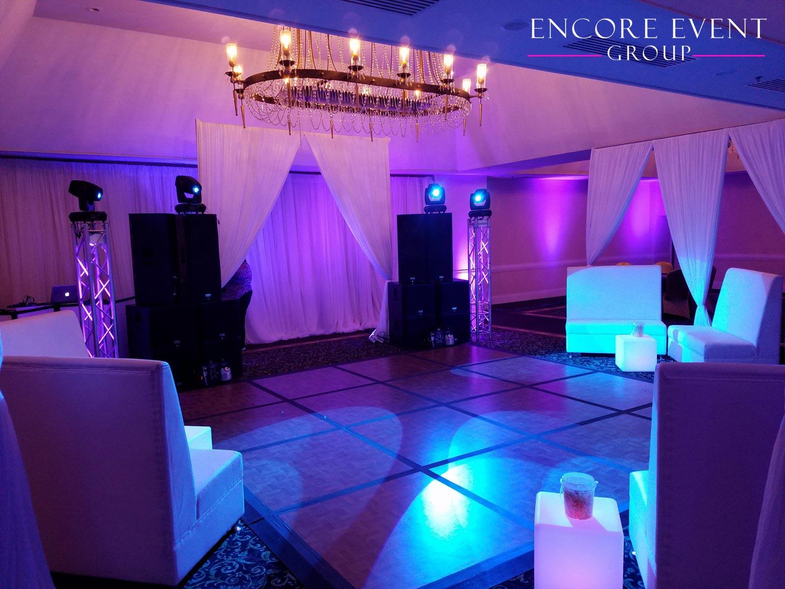 Whittier Detroit Michigan Wedding Drapery Encore Event Group