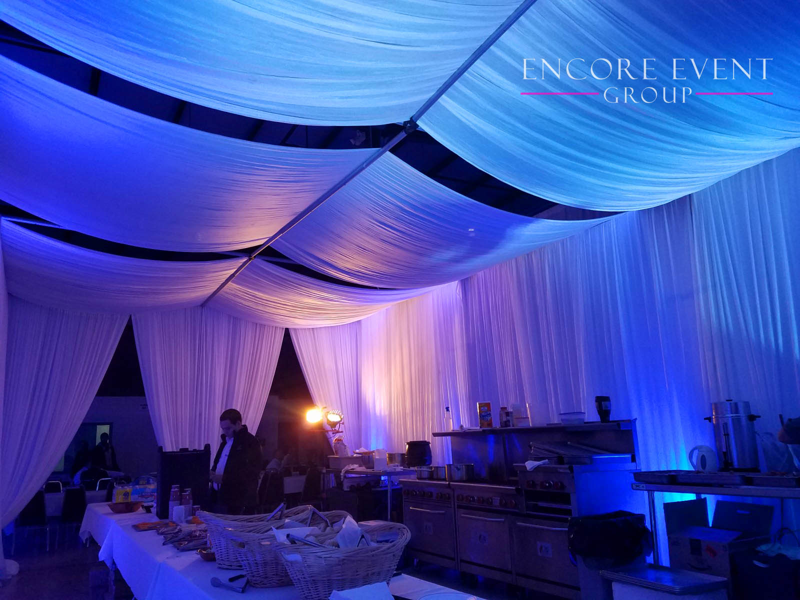 Corporate Event Canopy Draping Cabanas Encore Event Group
