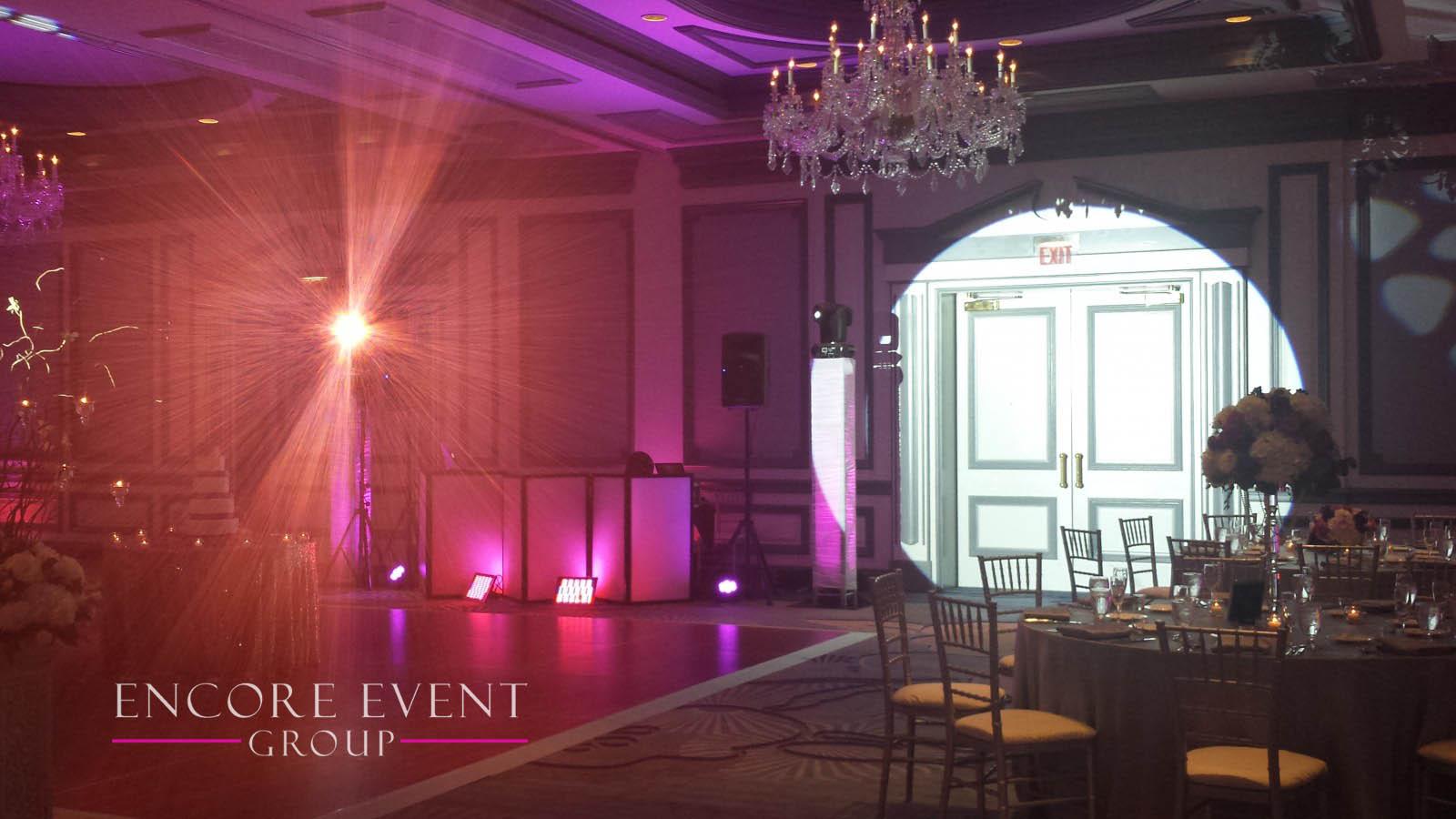 The henry dearborn wedding lighting design encore event group