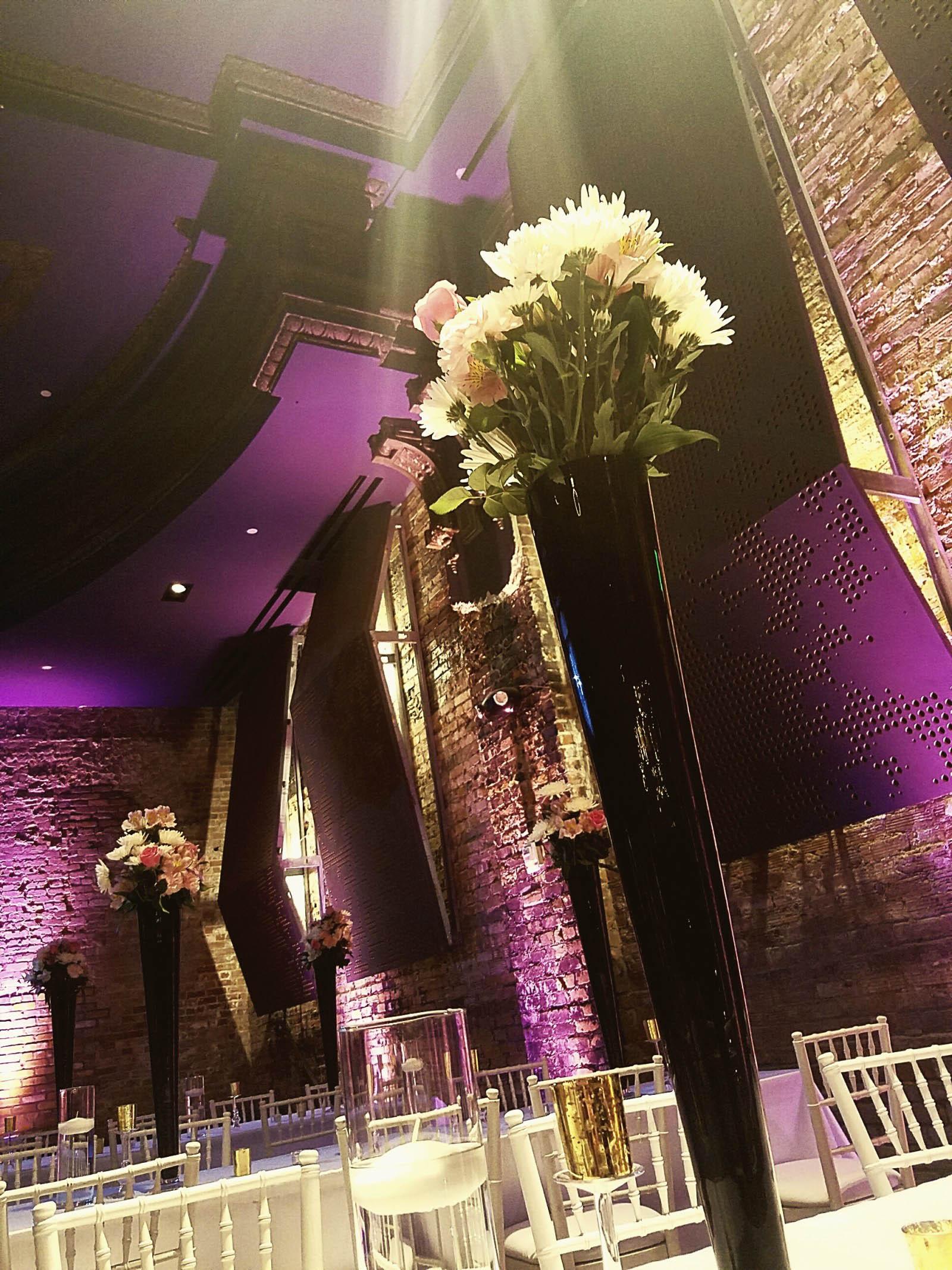 Garden Theater Detroit Wedding Uplights | Encore Event Group