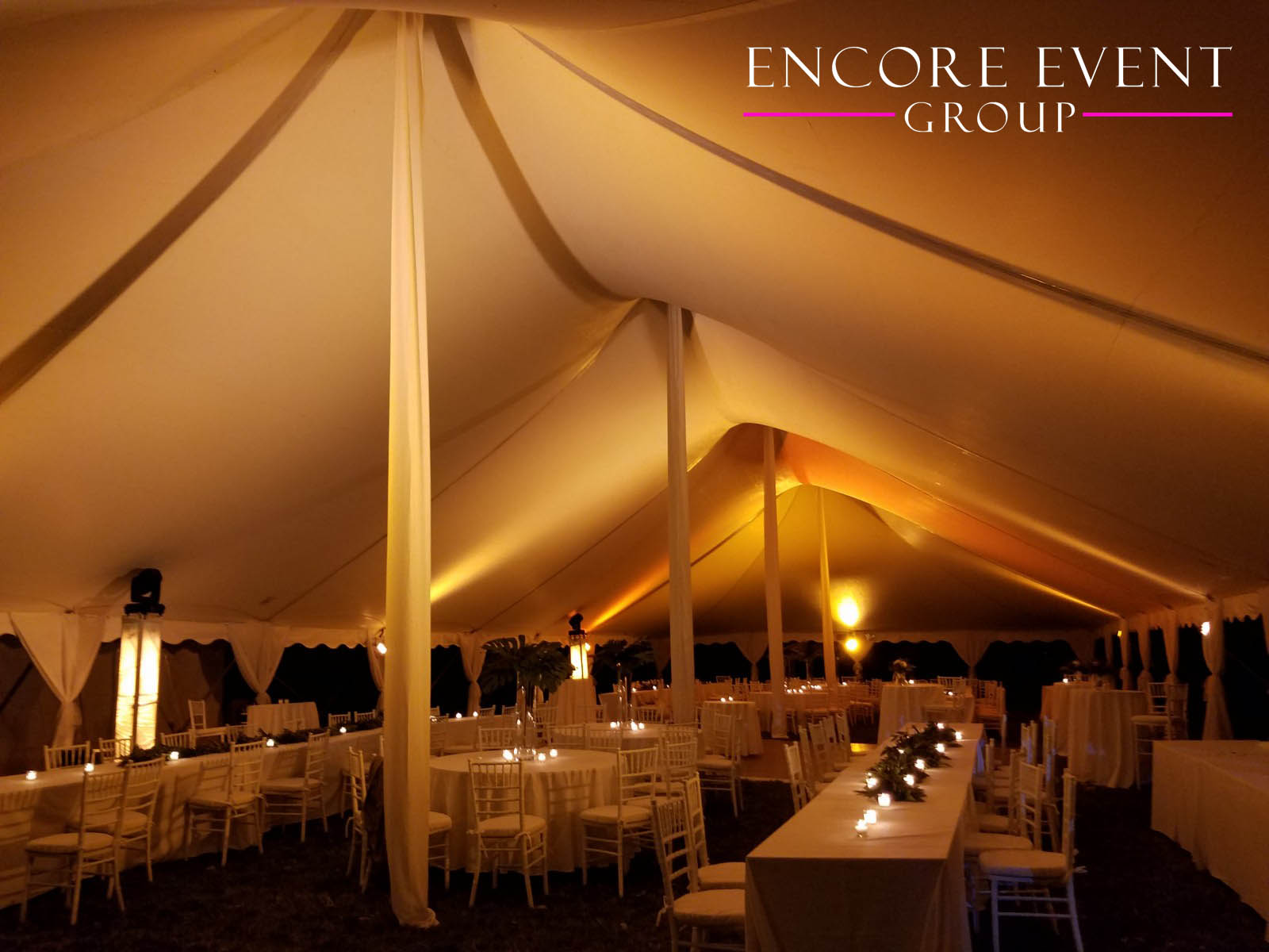 & Michigan Tent Canopy Uplighting | Encore Event Group