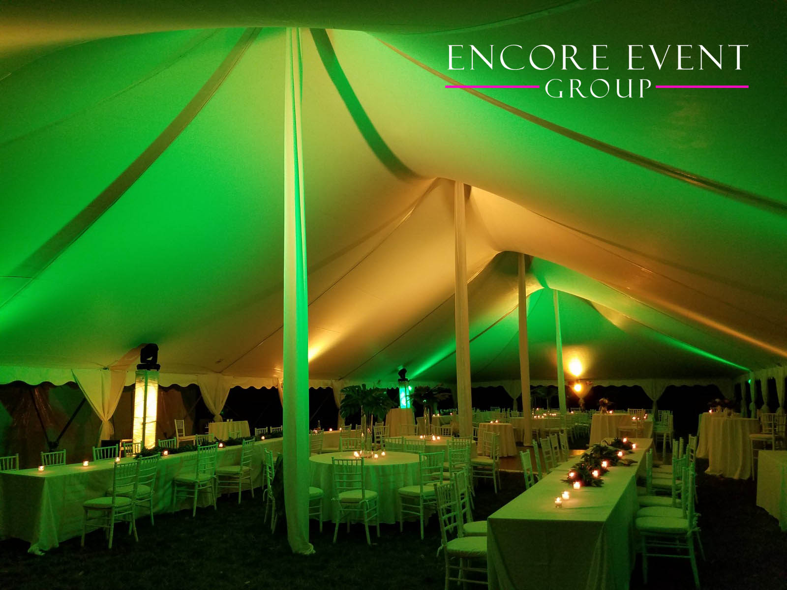 Outdoor tents require lighting as a basic element. Since you are outside and exposed to mother nature sometimes the brightness of the night sky isnu0027t ... & Michigan Tent Canopy Uplighting | Encore Event Group