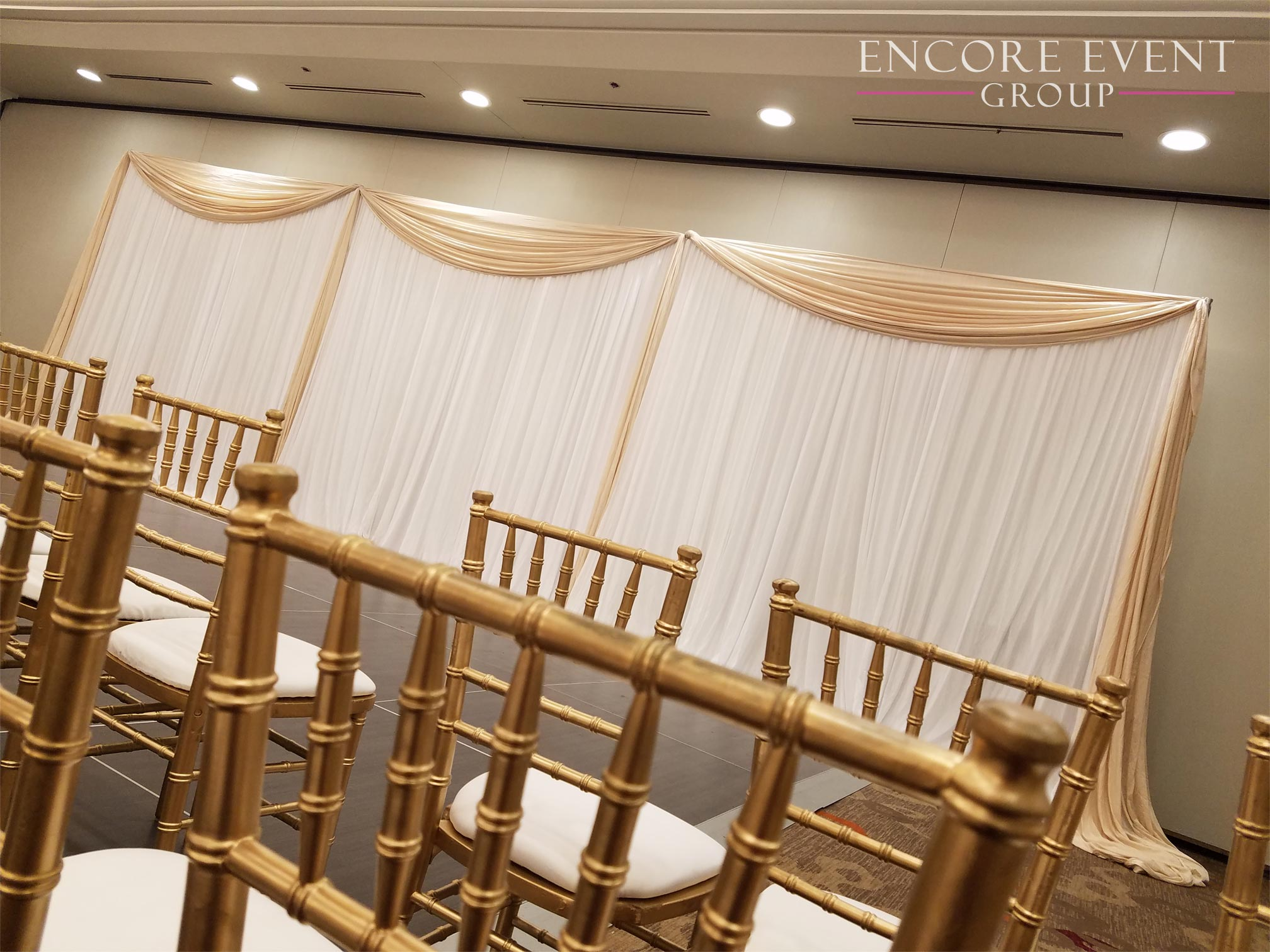 Sectioned Wall Draping And Decor
