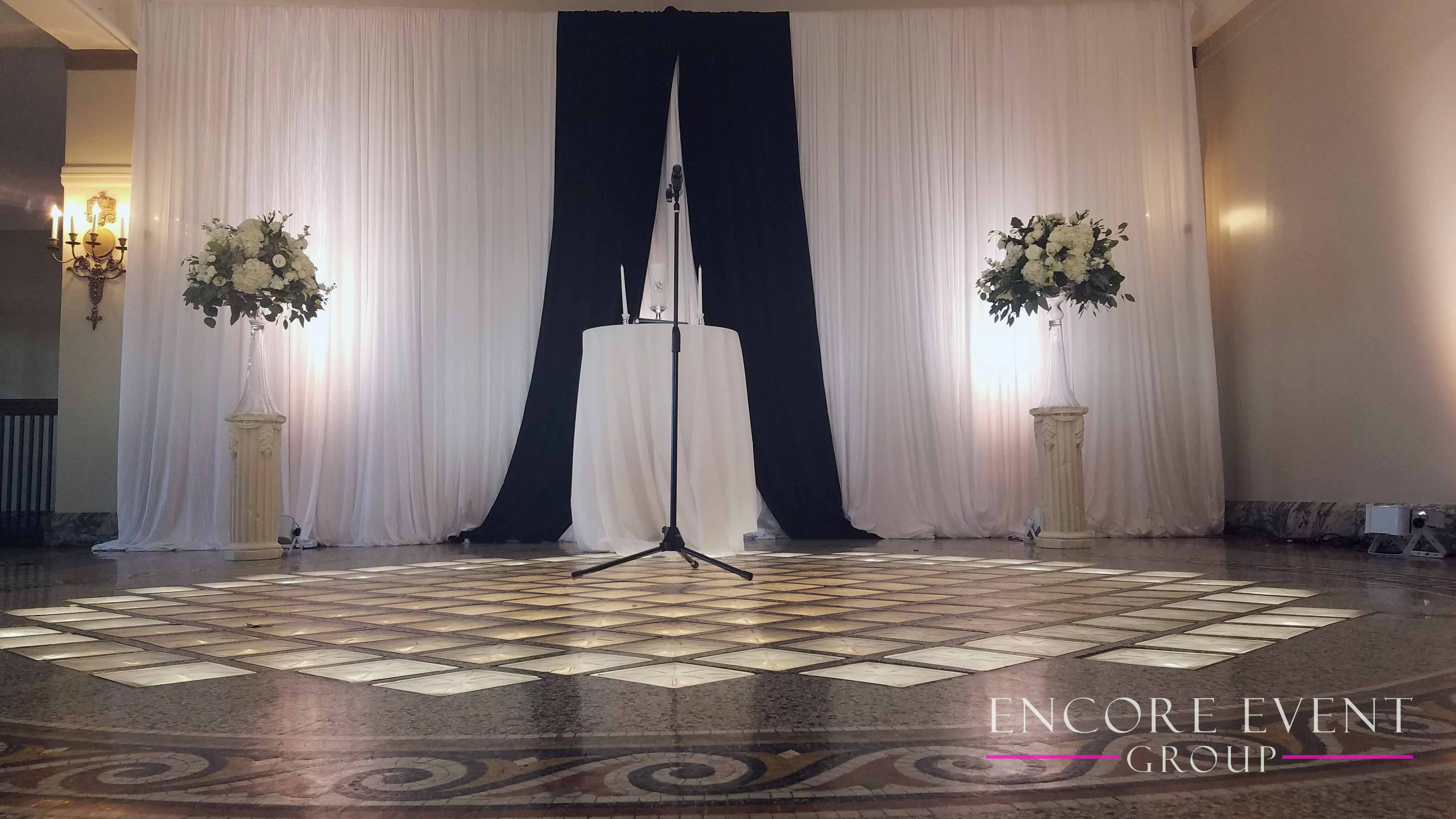 Belle Isle Casino Ceremony Draping Encore Event Group