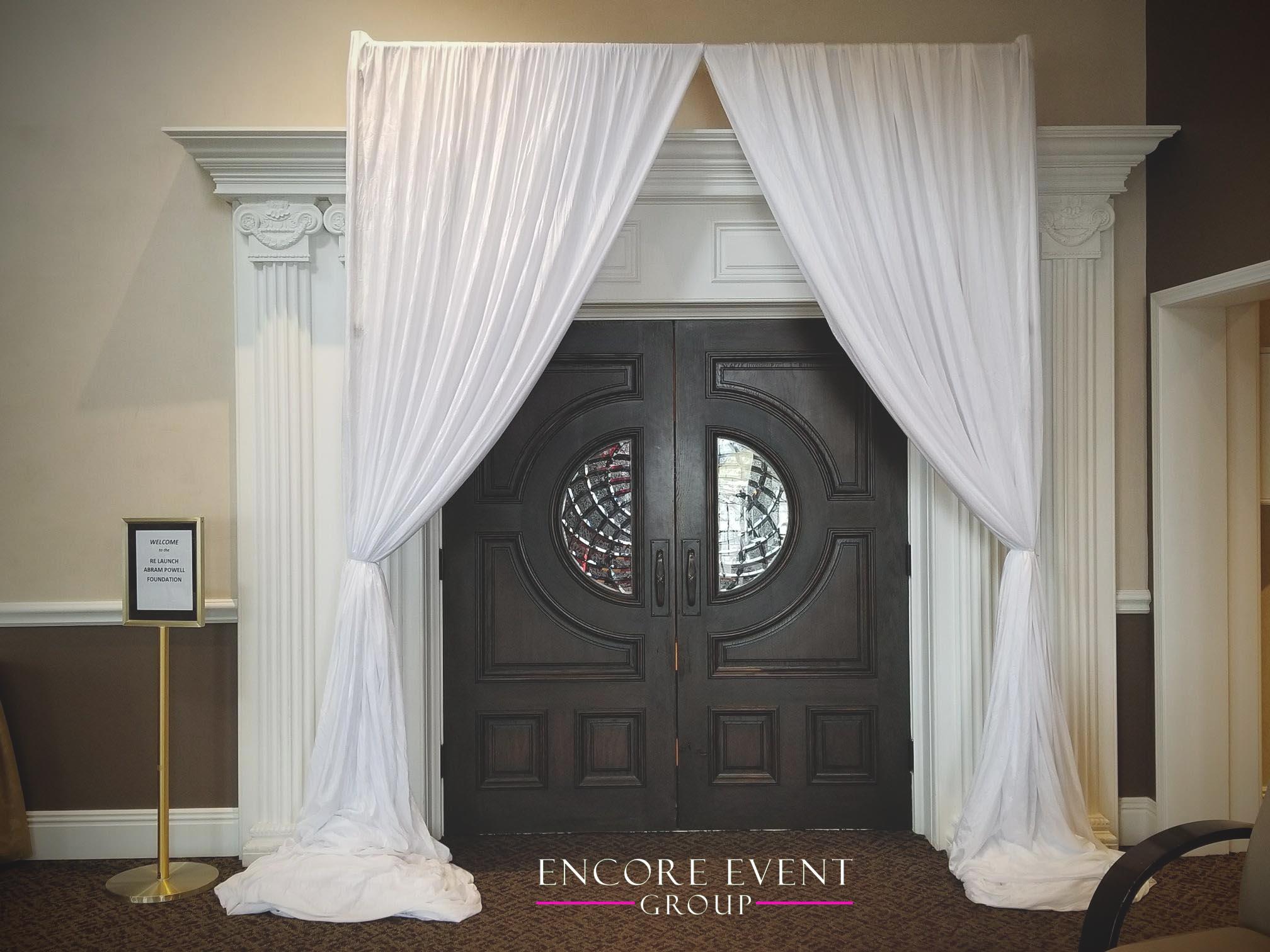 Michigan Wedding Doorway Draping Club Venetian Encore