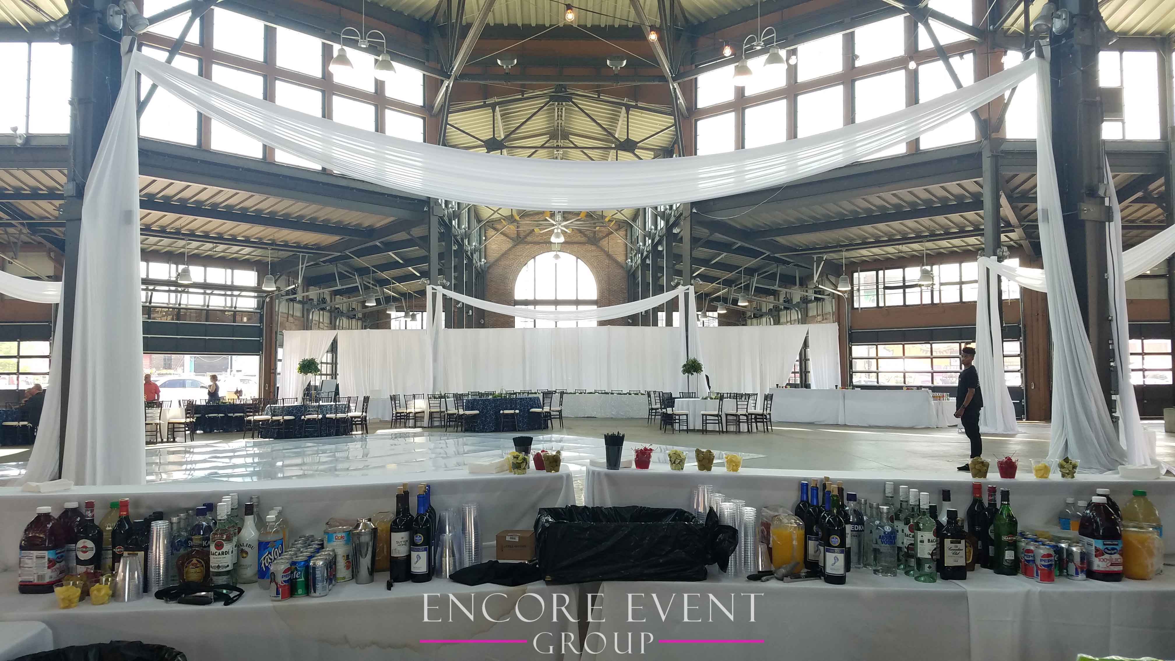 Eastern Market Detroit Wedding Draping Encore Event Group